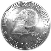 "1 Dollar ""Eisenhower Bicentennial Dollar"" (Silver Collectors' Issue) -  reverse"