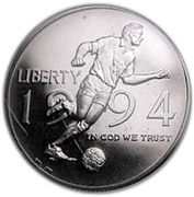 ½ Dollar  (World Cup Soccer) -  obverse