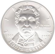 1 Dollar (Louis Braille Bicentennial) -  obverse