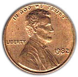 "1 Cent ""Lincoln Memorial Cent"" -  obverse"
