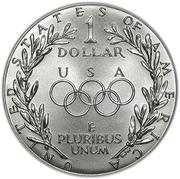 1 Dollar (Seoul Olympiad) -  reverse