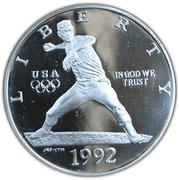 1 Dollar (XXV Olympiad) -  obverse
