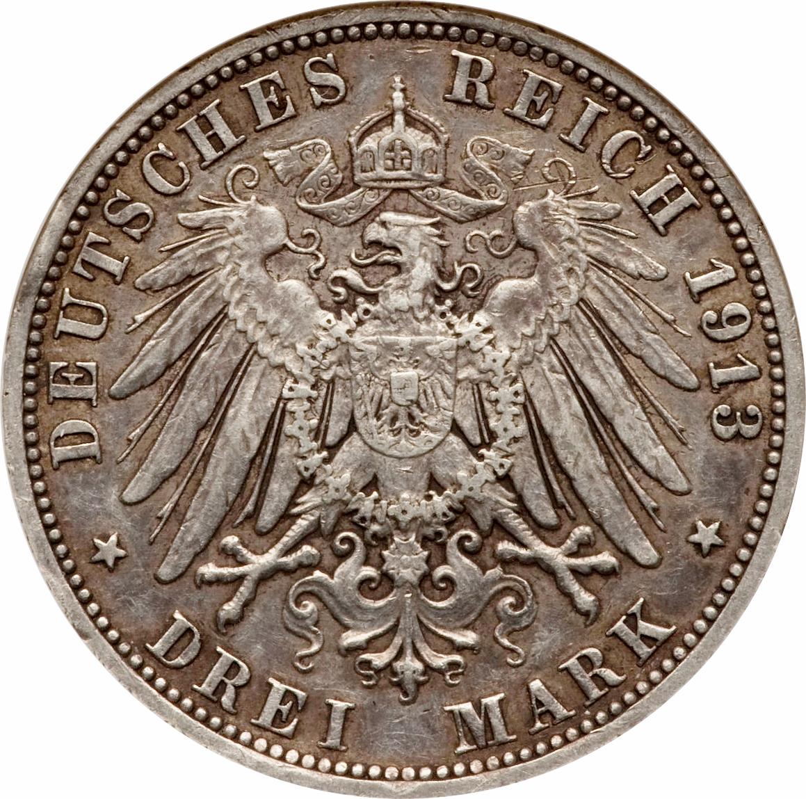 drei mark deutsches reich 1913