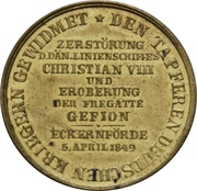 Medal - Victory against the Danes at the Battle at Eckernförde (Type 1) – reverse