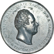 Medal - William IV (Erection of the Waterloo monument in Hannover) – obverse