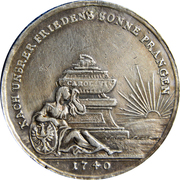 Medal - War in Silesia – obverse