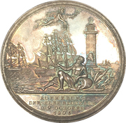 Medal - Lifting of the Elbe river blockade (Hamburg) – obverse