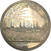 Medal - Lifting of the Elbe river blockade (Hamburg) – reverse