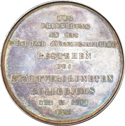 Medal - 25th anniversary of the Twenty-four Commission (Emden) – reverse