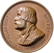 Medal - Albrecht Dürer (Berlin; 300 years of death) – obverse