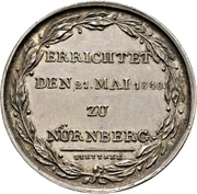 Medal - Erection of the Albrecht Dürer memorial in Nürnberg – reverse
