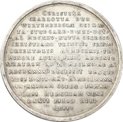 Medal - Death of Christine Charlotte of Württemberg – reverse