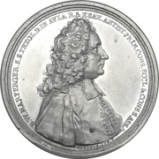 Medal - Bernhard Walther Marperger and the Saxony electoral church council – obverse