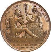 Medal - Free trade celebration – reverse