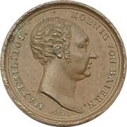 Medal - 25th anniversary of reign - Maximilian I. Joseph of Bavaria – obverse