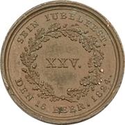 Medal - 25th anniversary of reign - Maximilian I. Joseph of Bavaria – reverse