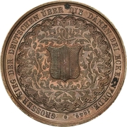 Medal - Battle of Eckernförde (Bronze issue) – reverse