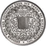 Medal - Battle of Eckernförde (Zinc issue) – reverse