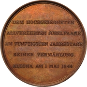 Medal - Conrad von Blücher-Altona (Golden wedding) – reverse