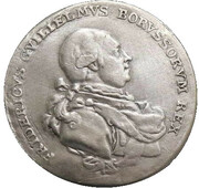 Medal - Friedrich Wilhelm II (Entry into Government in 1786; Brandenburg-Prussia) – obverse