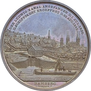 Medal - Construction of the Ludwigkanal (Bamberg) – obverse