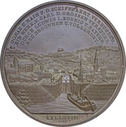 Medal - Construction of the Ludwigkanal (Bamberg) – reverse