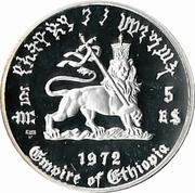 5 Birr - Hailé Selassié I (2nd reign Proof Series) -  reverse
