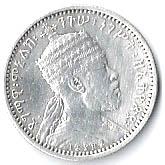 ⅛ Birr - Menelik II – obverse