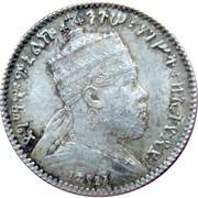 1 Ghersh - Menelik II – obverse