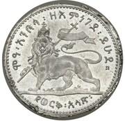 ½ Werk - Menelik II – reverse