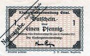 1 Pfennig (Klostergutsverwaltung Ettal) – obverse