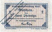 2 Pfennig (Klostergutsverwaltung Ettal) – obverse