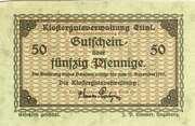50 Pfennig (Klostergutsverwaltung Ettal) – obverse