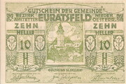 10 Heller (Euratsfeld) – obverse