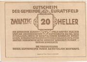 20 Heller (Euratsfeld) – reverse