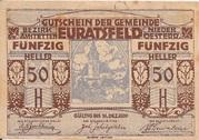 50 Heller (Euratsfeld) – obverse