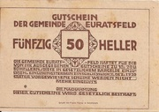 50 Heller (Euratsfeld) -  reverse