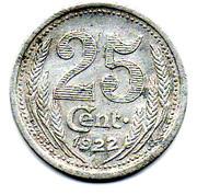 25 Centimes (Eure & Loir) – reverse