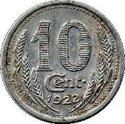 10 Centimes (Eure & Loir) – reverse