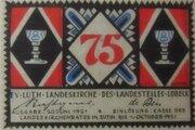 75 Pfennig (Evangelisch-Lutherische Landeskirche des Landesteils Lübeck) -  obverse