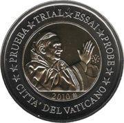 2 E (Vatican City Euro Fantasy Token) – obverse