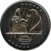 2 E (Vatican City Euro Fantasy Token) – reverse