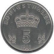 5 Königsthaler – reverse