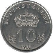 10 Königsthaler – reverse