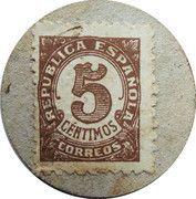 5 Centimos (Moia) – reverse