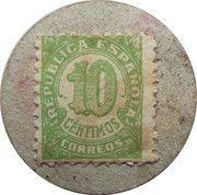 10 Centimos (Graus) – reverse