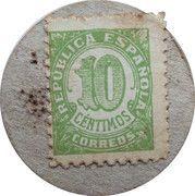 10 Centimos (Palafrugell) – reverse