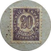 20 Centimos (Ametlla de Mar) – reverse