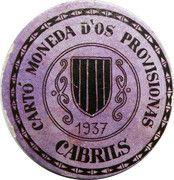 20 Centimos (Cabrils) – obverse