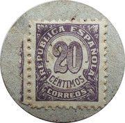 20 Centimos (Cabrils) – reverse